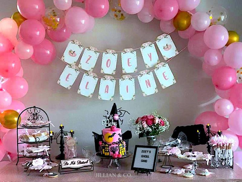 Little Girl's Baby Shower! Halloween Theme!