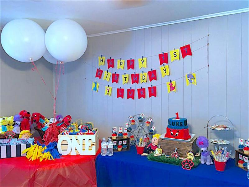LUKE turned ONE! CLIFFORD BIRTHDAY PARTY!